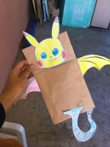 Pikachu with dragon wings and tail
