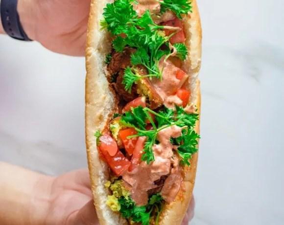 Maakouda Sandwich in French Baguette
