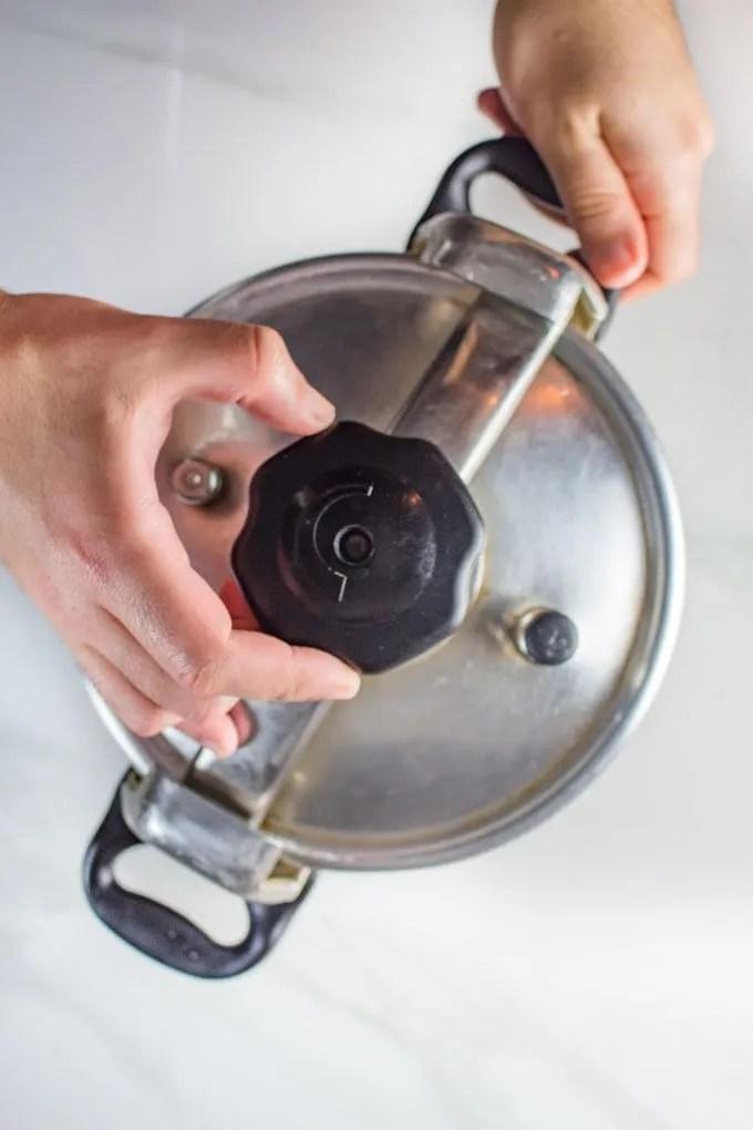 Pressure cooker used to make harira
