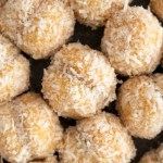 Moroccan Snowball Cookies on parchment paper
