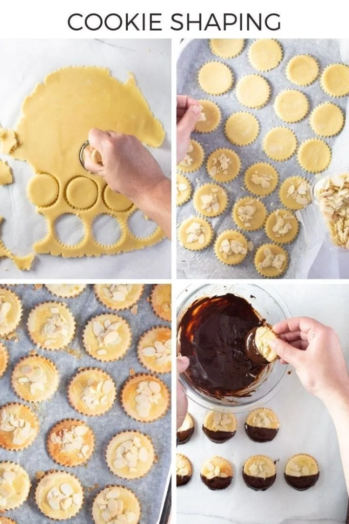 How to make Moroccan Chocolate Dipped Almond Cookies Collage