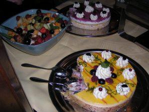 Dit was wel gaaf, de catering was echt subliem, maar een toetjesbuffet zoveel je wilt en zovele soorten? wow dit is nog niet de helft van alle keuzes die we hadden.