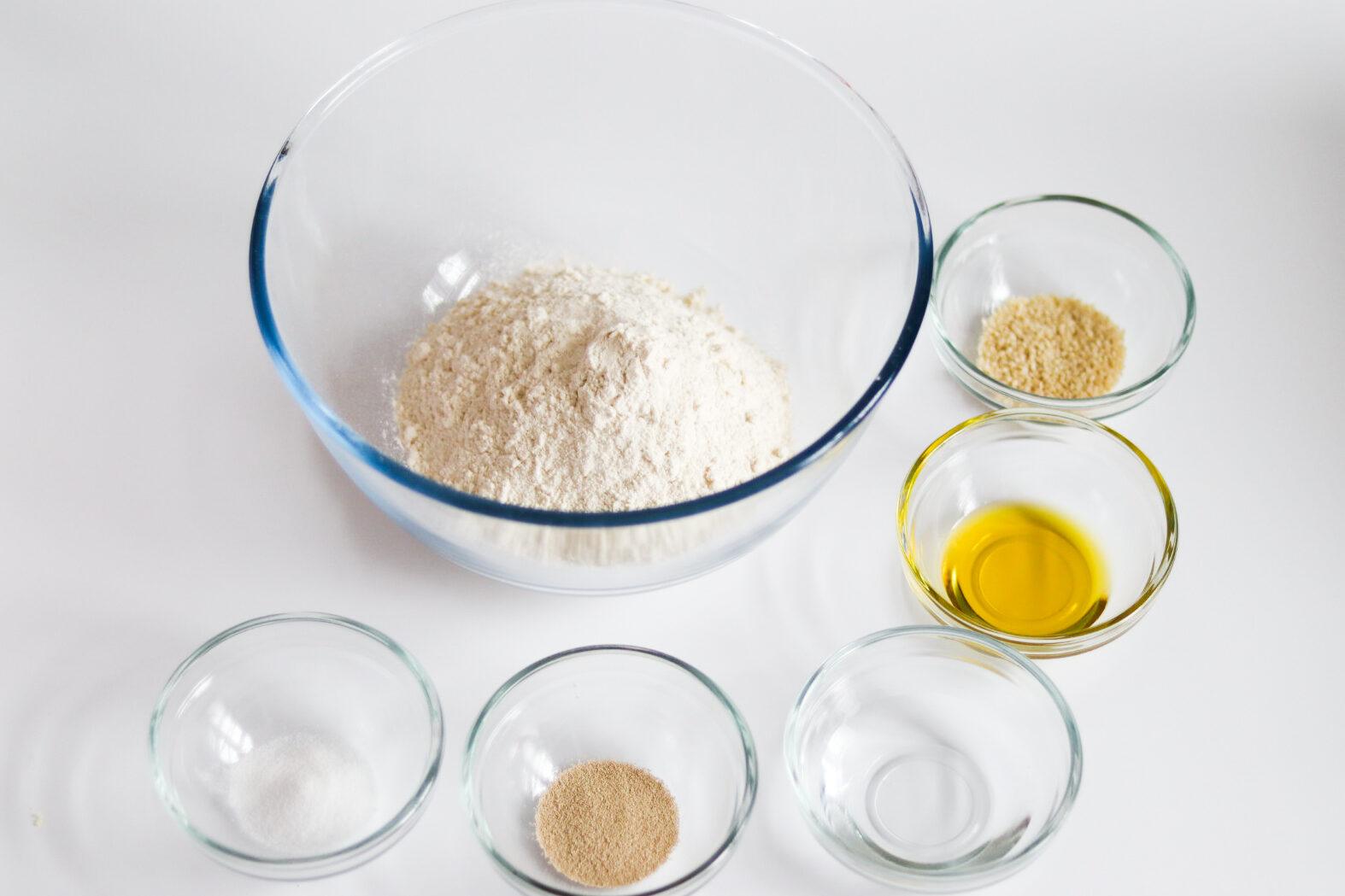 Breadsticks recipe ingredients.