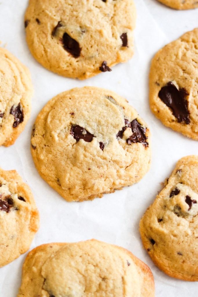 Homemade soft tahini chocolate chip cookies recipe