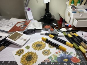 Messy Desk While Prepping for Class