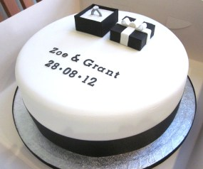 Engagement party cake.