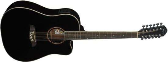 Oscar Schmidt OD312CEB 12-String Acoustic Electric Guitar
