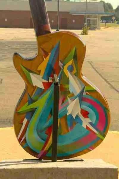 Aztec guitar back