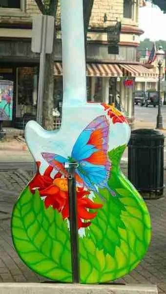 Hummingbird guitar butterfly back