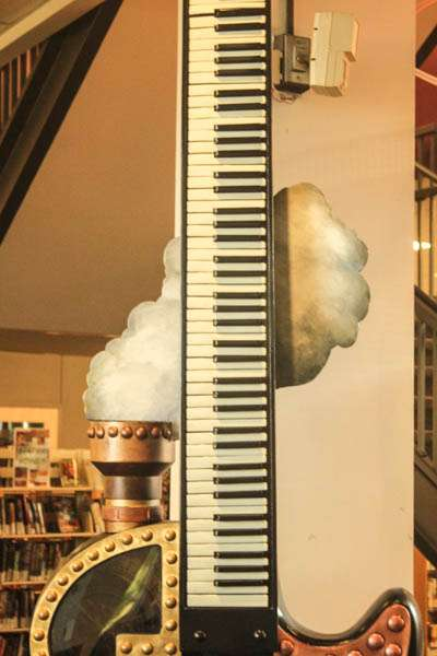 Steampunk guitar keyboard neck