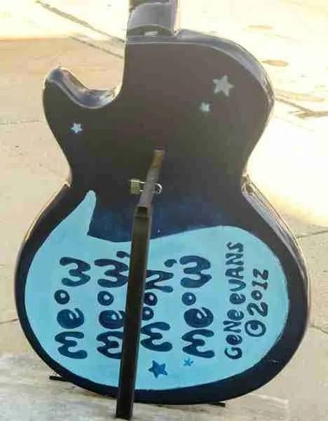Tiger guitar back