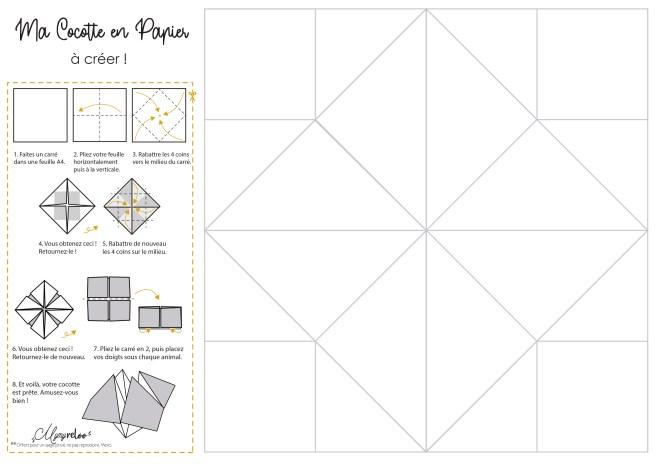 Cocotte en Papier à créer