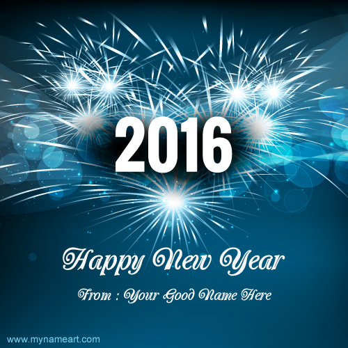 create happy new year card with photo