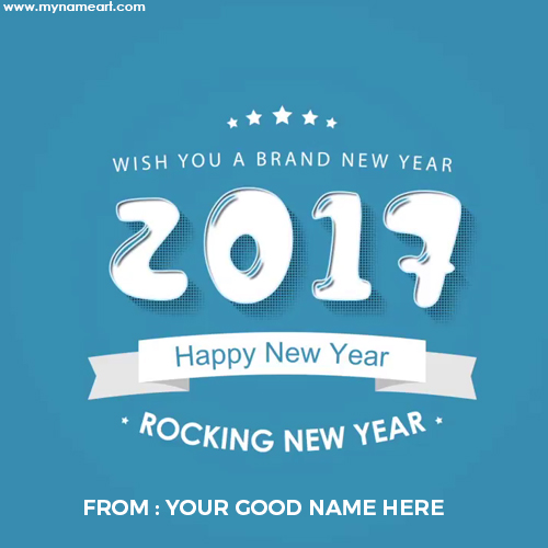make happy new year card online
