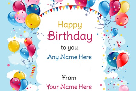 Birthday Wishes With Name And Photo Path Decorations Pictures