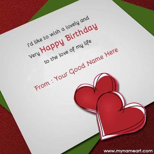 Birthday Greeting Card With Name And Photo Editor Cards For Lover Editing