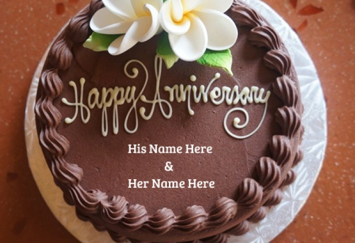 Happy Anniversary Wishes Couple Name Cake