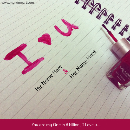 Write Name On Pink Heart Love Card Pictures Wishes