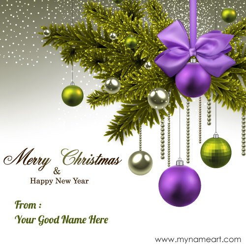 create new year card
