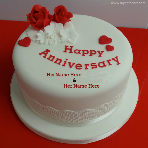 Write Name On Wedding Anniversary Cake Online   wishes greeting card Create card