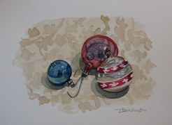 Ornaments, Dec. 11, 2011 watercolour on paper