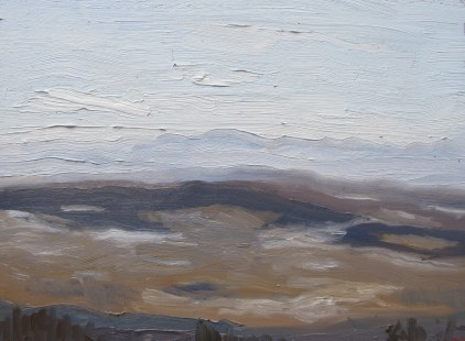 Leighton Landscape - Winter, February 9, 2012 oil on masonite 12in. x 16in.