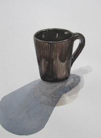 Coffee mug, August 22, 2012 watercolour on paper 9 x 12