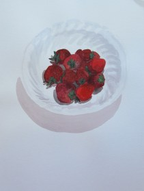 Srawberries, Sept. 12, 2012 watercolour on paper 12 x 16