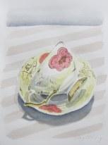 Marie's tea cup #2, Jun. 2013, watercolour on paper 9 x 12