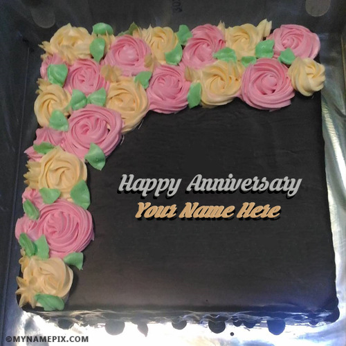 Happy Anniversary Cake With Name Happy Wedding Anniversary Cakes With Name