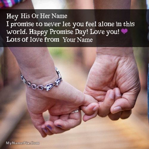 Promise Day Wishes With Name