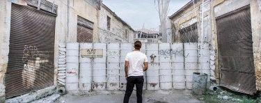 Walking into the Berlin Wall