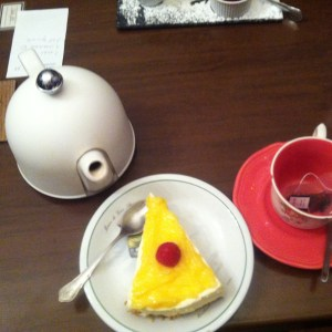 thé Kusmi & cheesecake