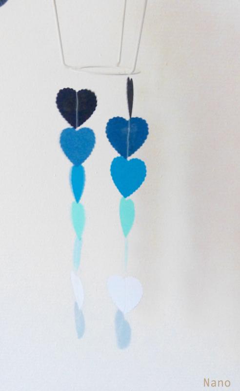 lampe papier coeurs