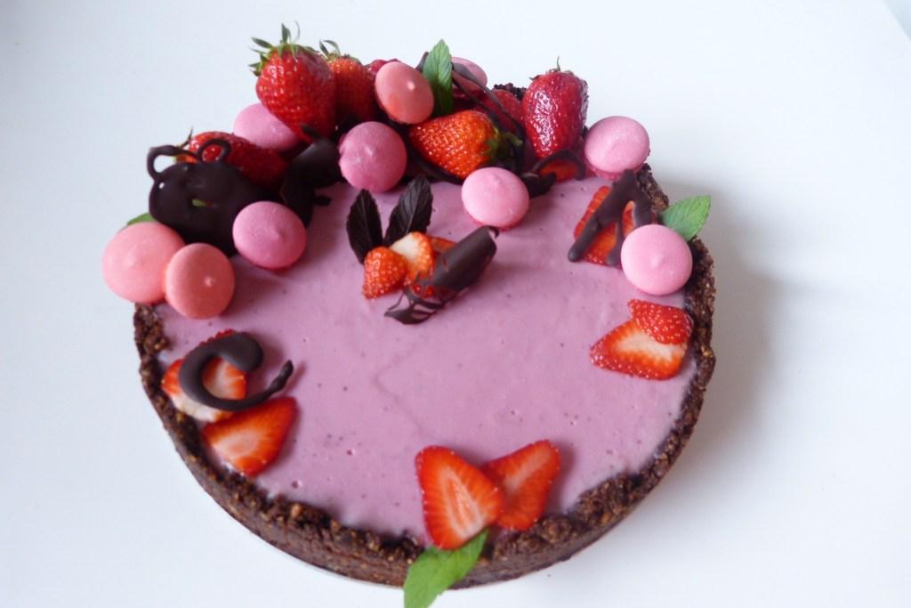 tarte fraise vegan cheesecake sans noix coco
