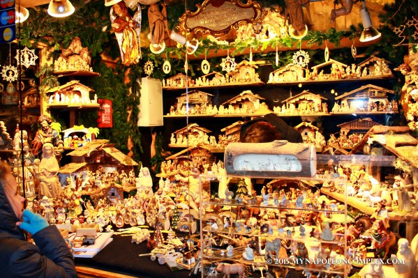 Picture of nativity stand in Rathaus Christmas Market, Vienna