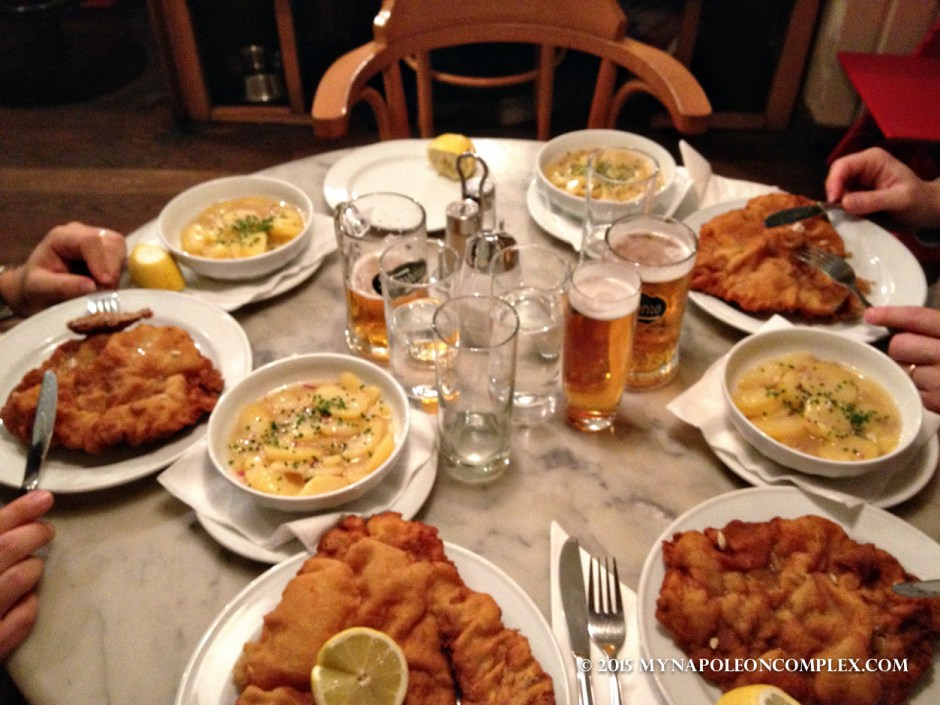 Picture of Wiener Schnitzel at Gasthaus Poschl in Vienna