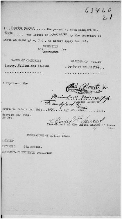 Chharles Cluthe Passport Document #6