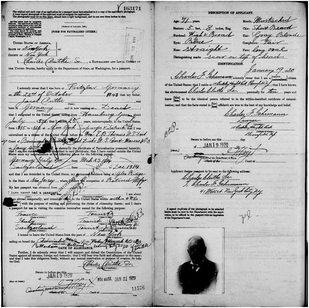 Cluthe Passport Document