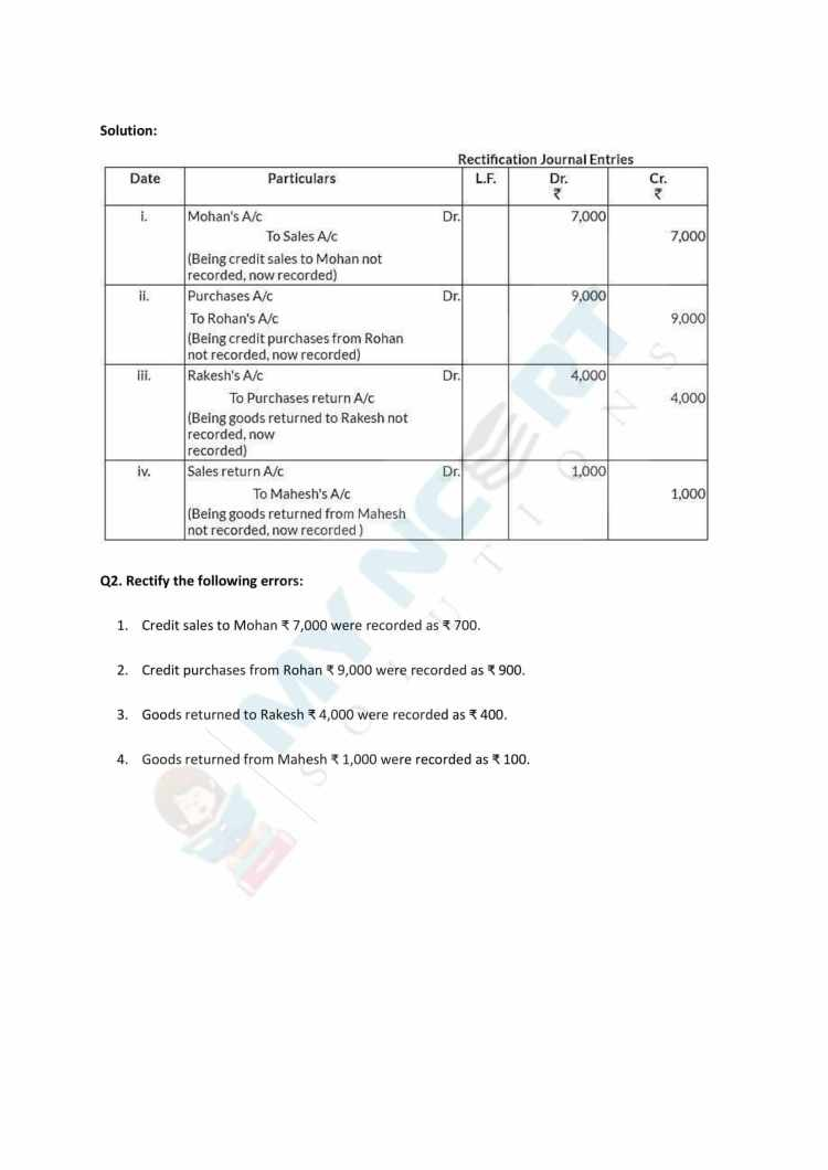 NCERT Solutions Class 11 Accountancy Chapter 6 Trial