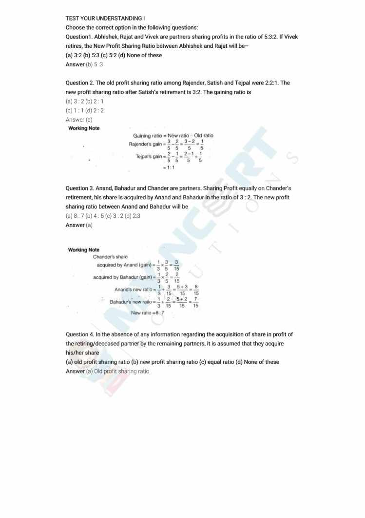 ncert solutions class 12 accountancy part 1 chapter 4 reconstitution of a partnership firm retirement death of a partner 03