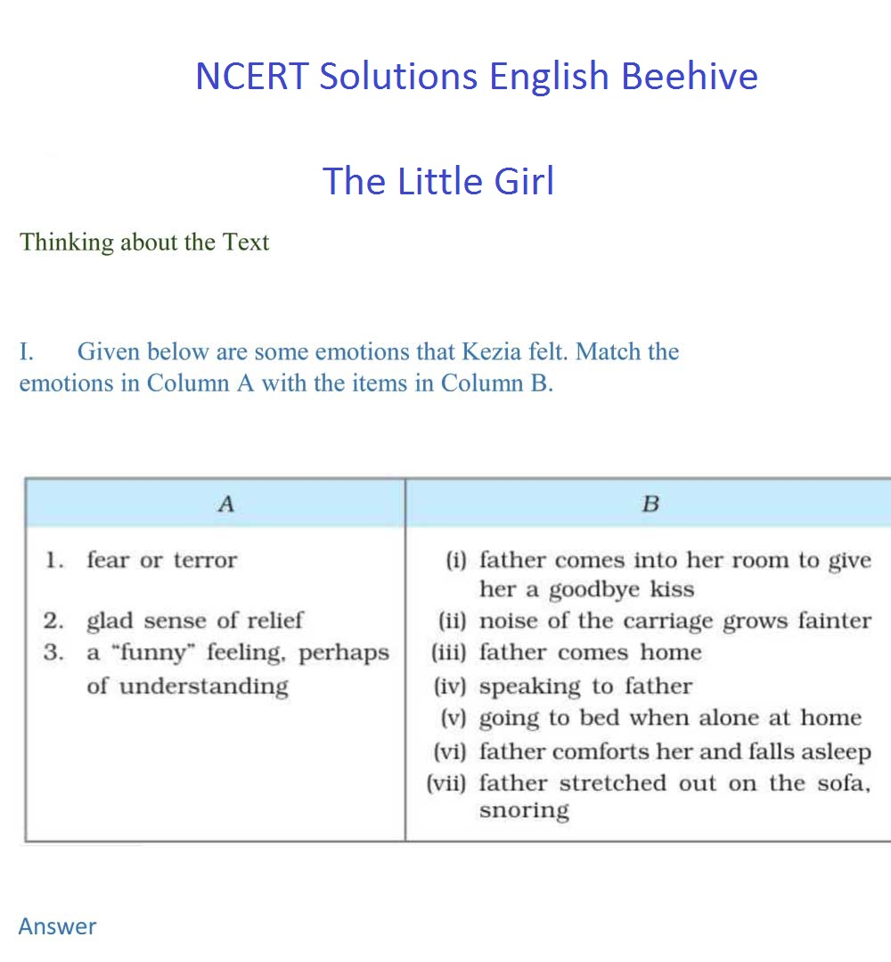 NCERT Solutions For Class 9 English Beehive Chapter 5