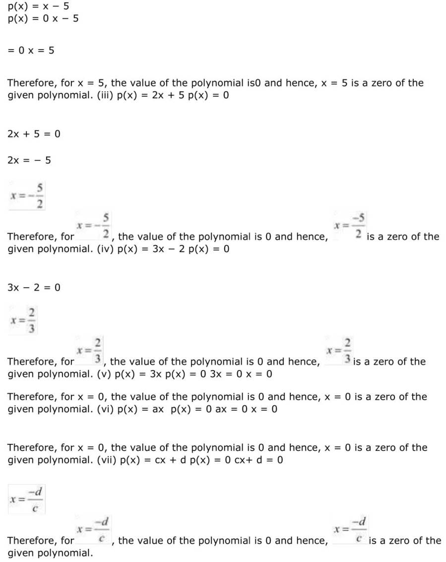 ncert solutions for class 9 maths chapter 2 polynomial 10