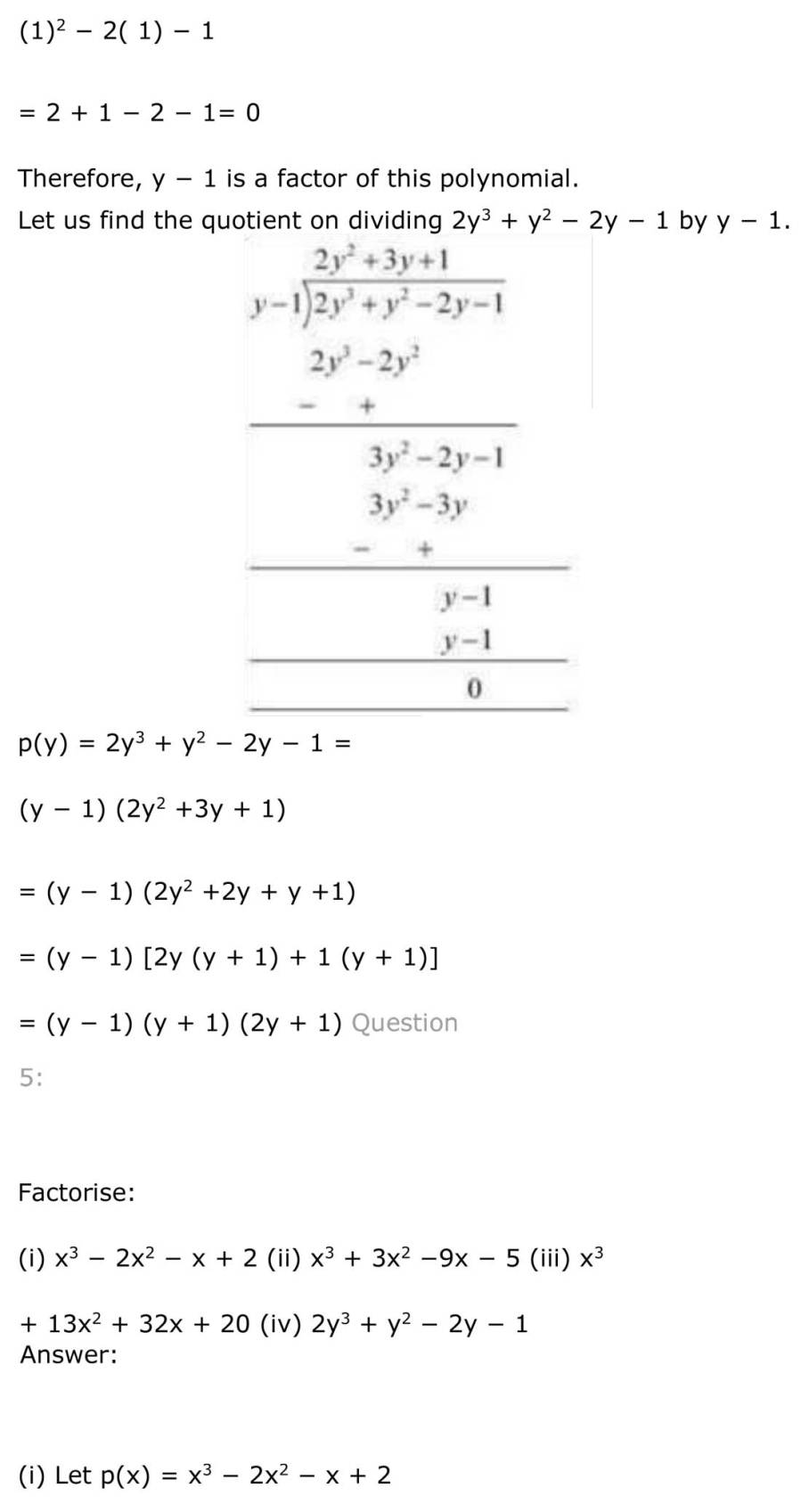 ncert solutions for class 9 maths chapter 2 polynomial 24