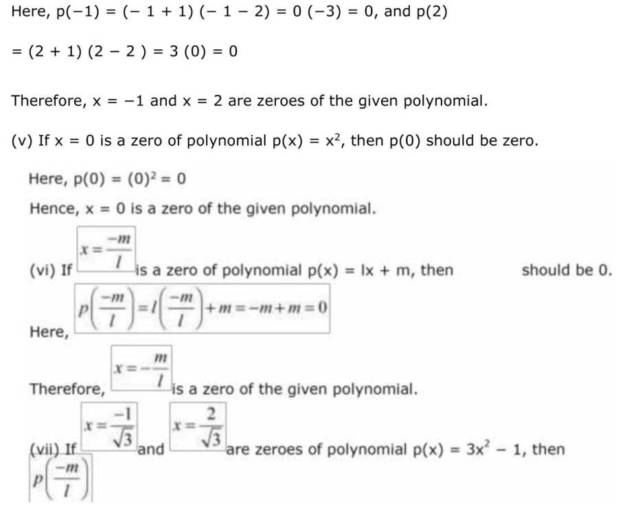 ncert solutions for class 9 maths chapter 2 polynomial 8