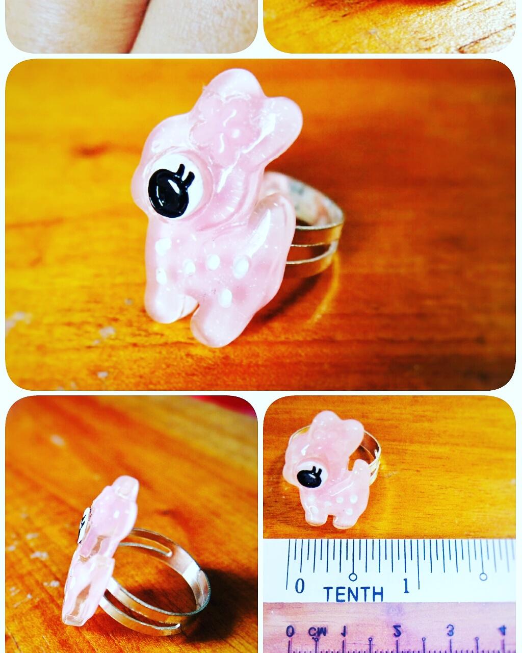 Pink Deer Ring