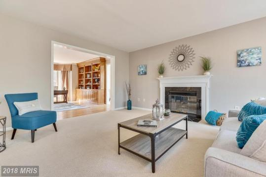 Vacant Family Room Staging