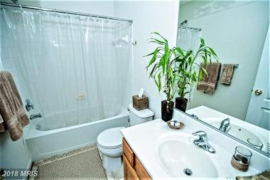 Occupied Bath Staging