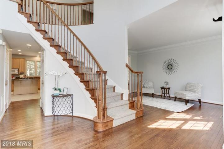 Picture of vacant foyer staging with curved staircase