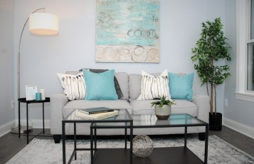 Small living space staging